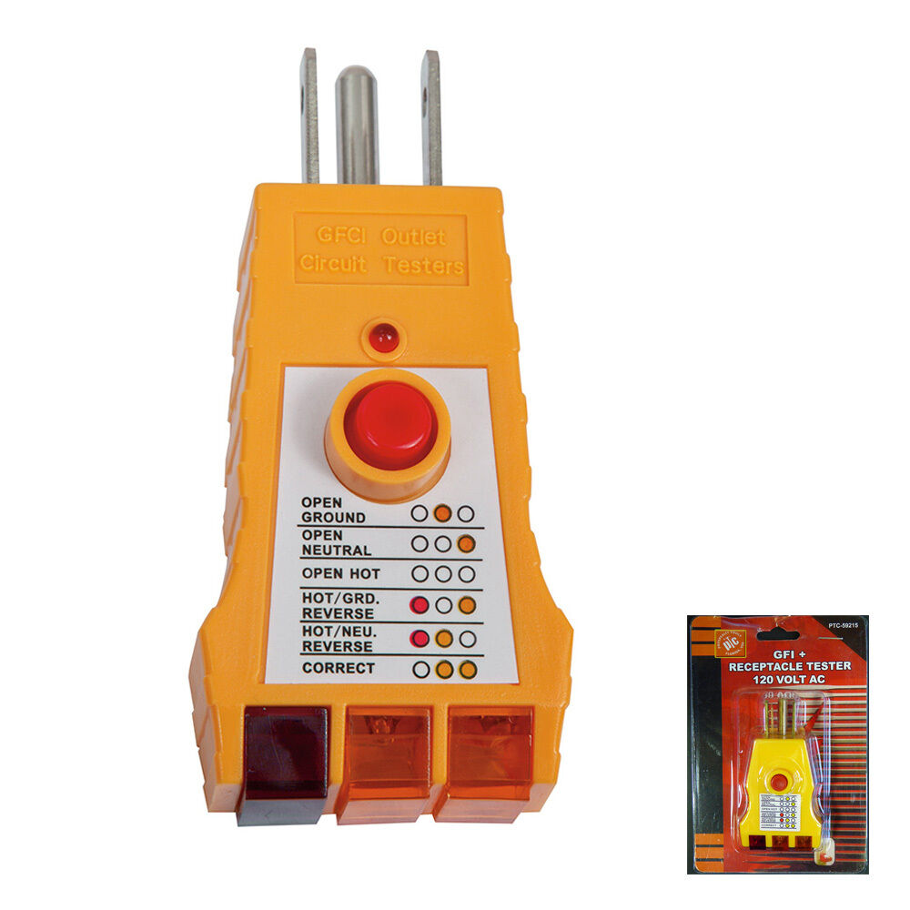 All In One Electrical Testers : Electrical gfi gfci receptacle tester ac outlet plug