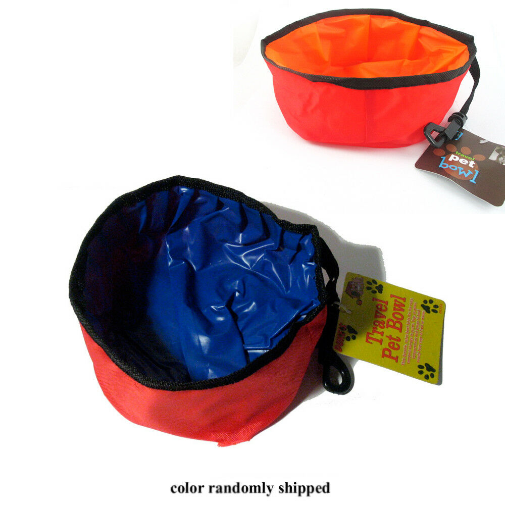 Pet Dish Travel Feeder Bowl Collapsible Foldable Dog Cat ...