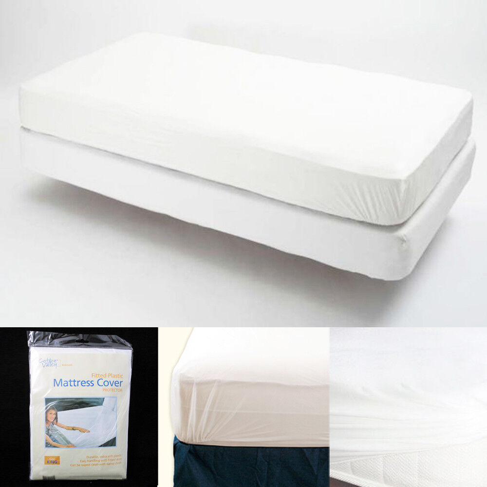 King Size Fitted Mattress Cover Vinyl Waterproof Bug