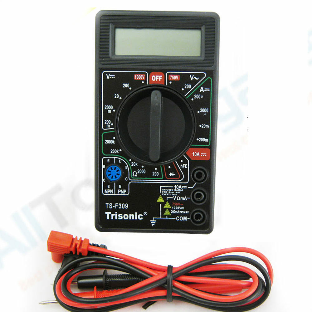 Ac Dc Digital Voltmeter Kit : Portable digital multimeter lcd ac dc voltage electronic