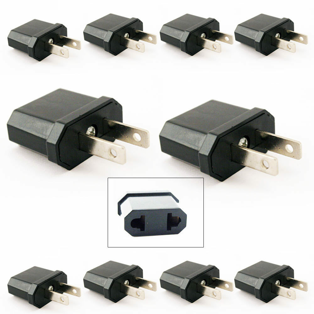 10 travel europe to usa power plug adapter adaptor convert. Black Bedroom Furniture Sets. Home Design Ideas