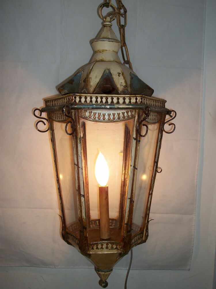 antique lantern ceiling light fixture venetian hanging 87989