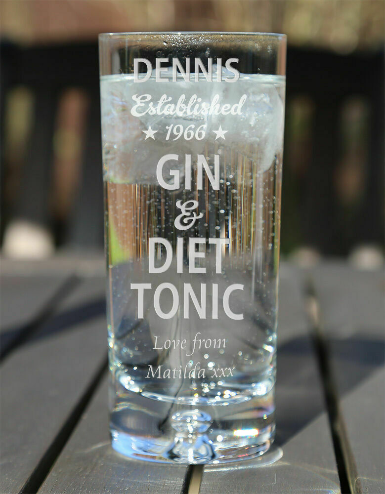 Engraved Gin And Tonic Glass