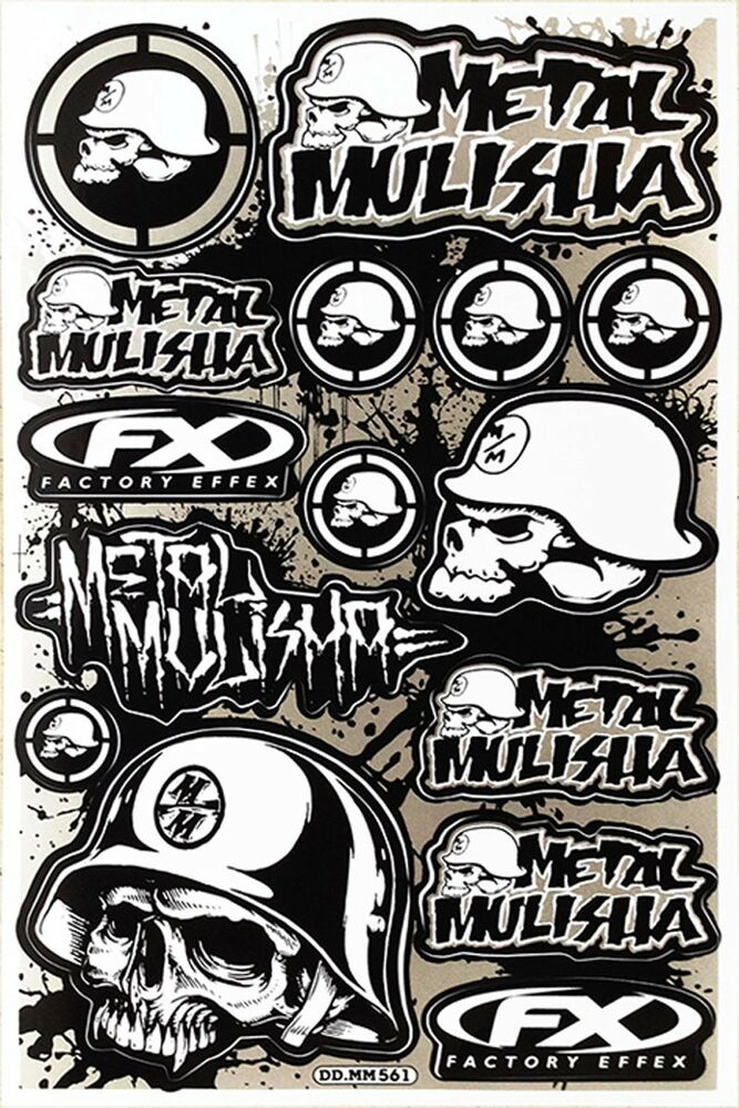 Metal Mulisha Rockstar Energy Sticker Motocross Motorcycle