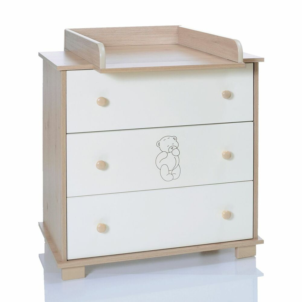 baby chest baer changing table removeable unit with 3 drawers lcp kids 69 4250579200691 ebay. Black Bedroom Furniture Sets. Home Design Ideas