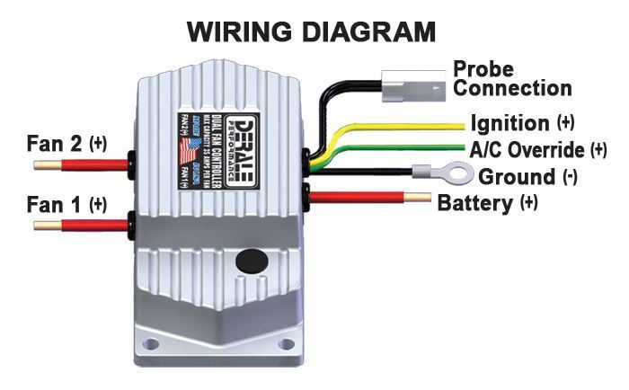 Wiring Diagram For Dual Electric Fans : Derale high amperage adjustable dual electric fan