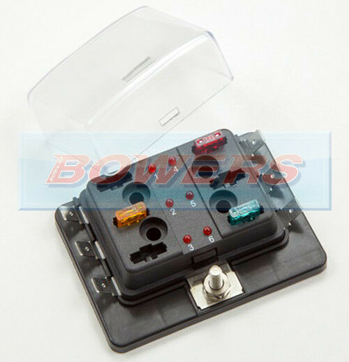 12v  24v 6 way mini blade fuse box holder with led failure