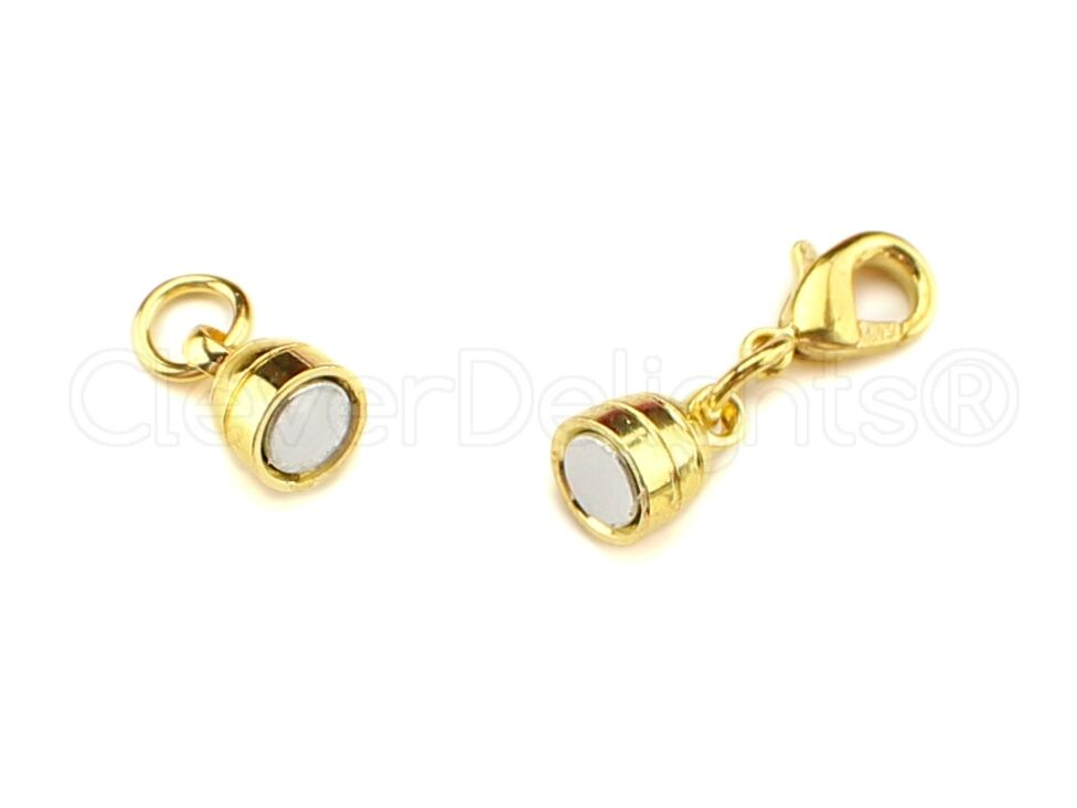 8 magnetic jewelry clasps capsule style gold color