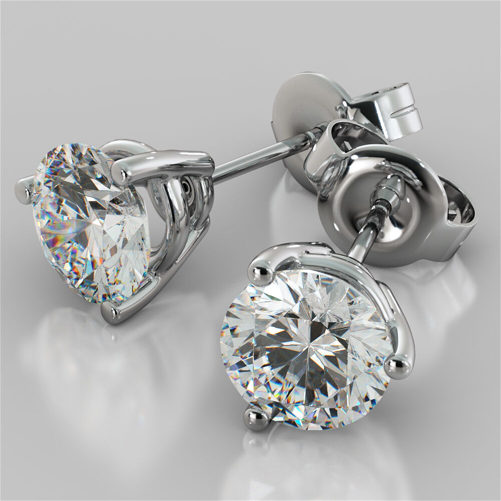 Diamond Stud Earrings Uk Ebay