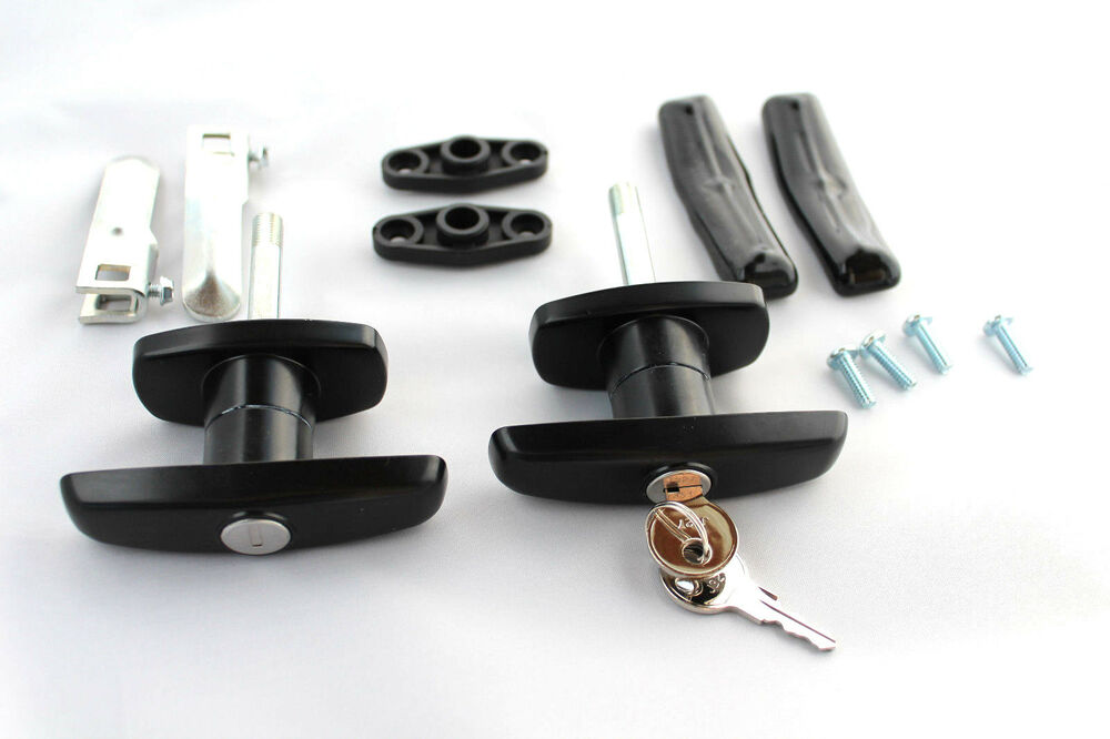 Truck Cap Black Hd T Handle Locks With Accessories Pair