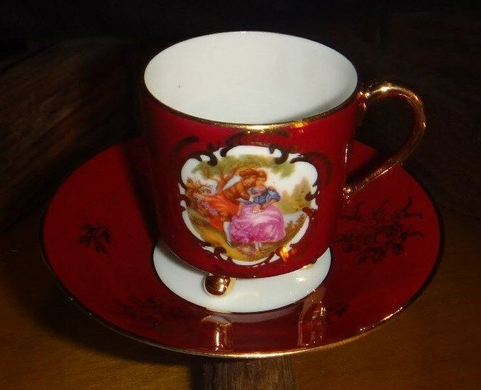 goudeville limoges made in france miniature cup and saucer ebay. Black Bedroom Furniture Sets. Home Design Ideas