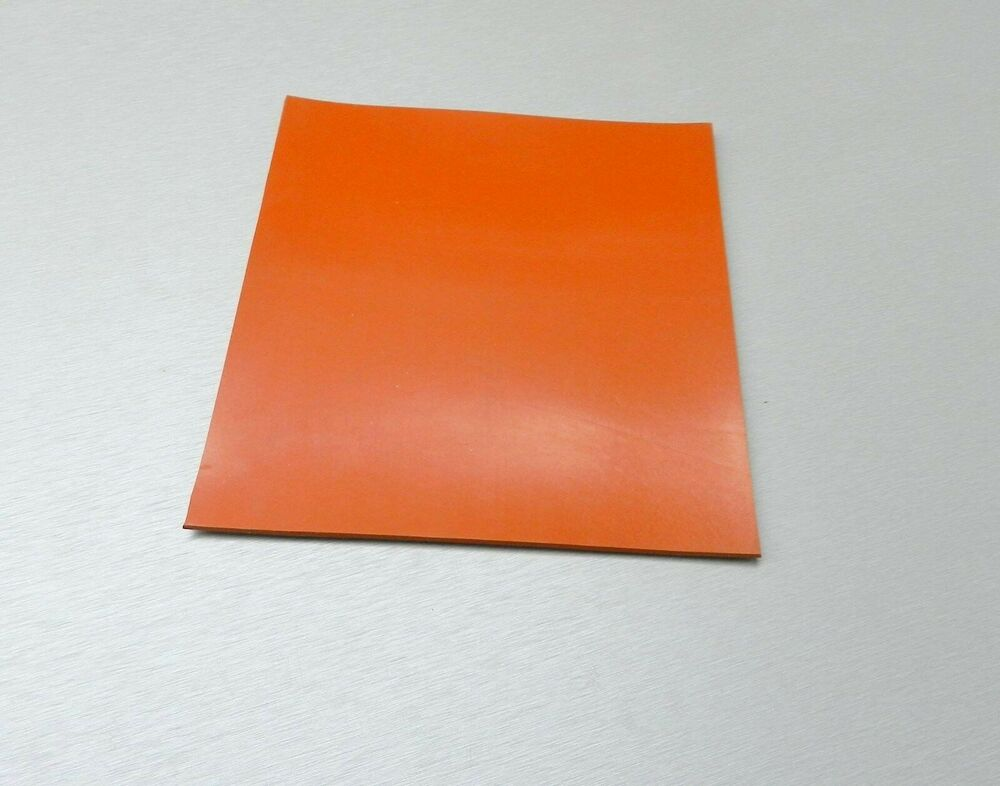 Silicone Rubber Sheet High Temp Solid Red Orange