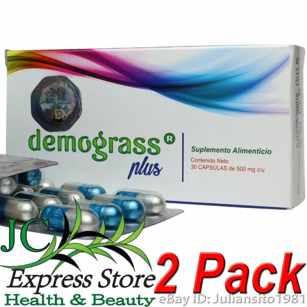 2 PACK DEMOGRASS PLUS WEIGHT LOSS SUPPLEMENTS 60 CAPSULAS 100% ORIGINAL PILL