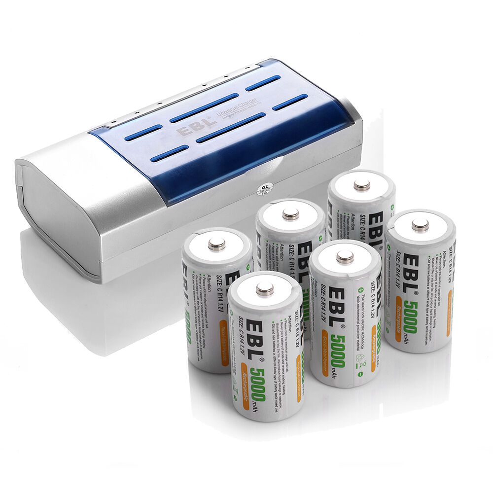 6 x ebl 5000mah ni mh rechargeable battery 9v 6f22 charger for aa aaa c d type ebay. Black Bedroom Furniture Sets. Home Design Ideas