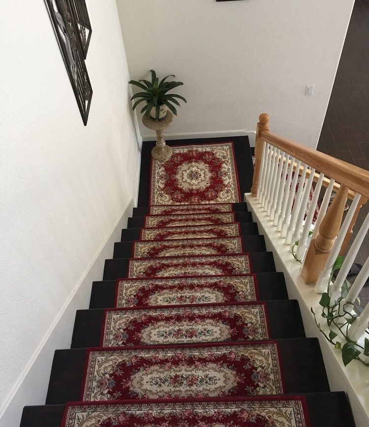acrylic non slip stair runners rug stair treads carpet. Black Bedroom Furniture Sets. Home Design Ideas