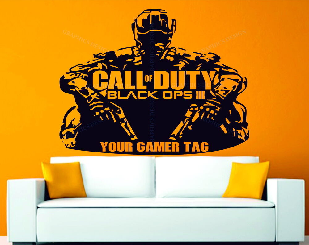 Call of Duty Black Ops 3 Personalised Gamer Tag Decor ...