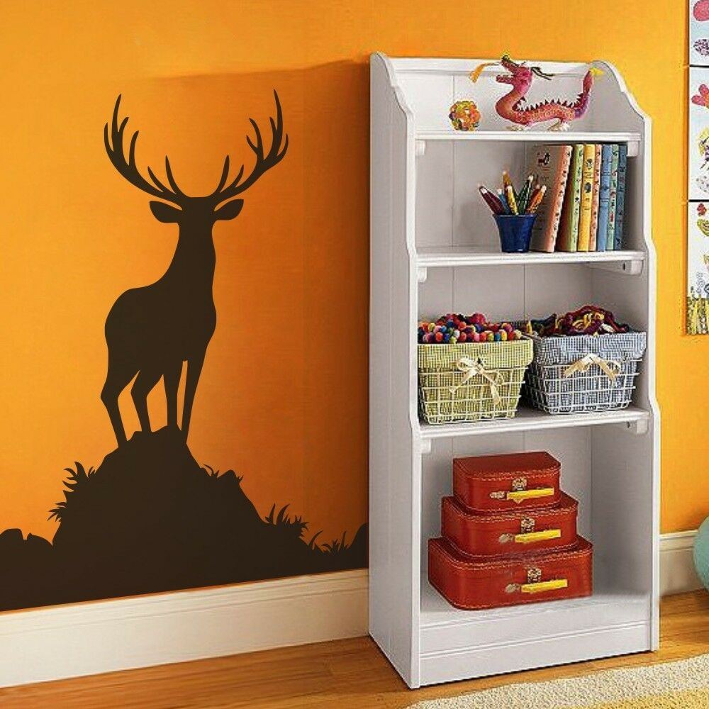 Deer antler wall decal inspirational hunting vinyl office for Deer wall mural