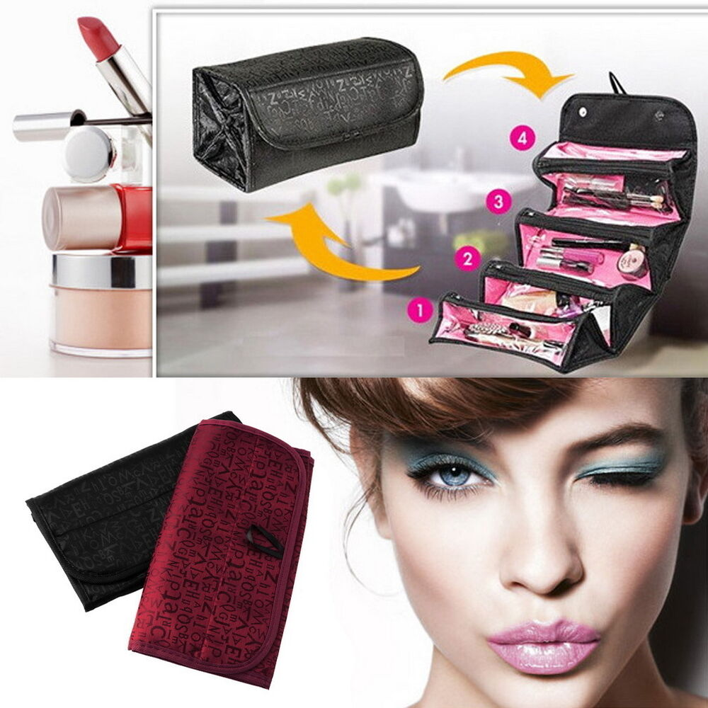 ... Cosmetic Case Organizer Makeup Beauty Holder Wash Hanging SS  eBay