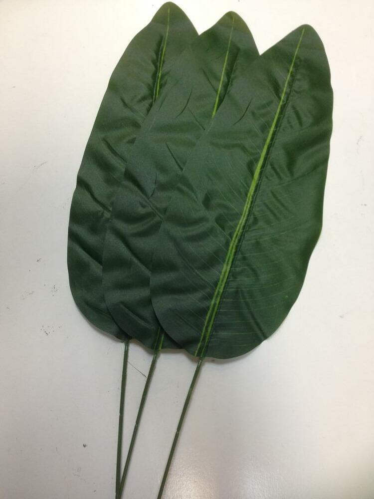 3 x artificial banana leaves ebay for Artificial banana leaves decoration