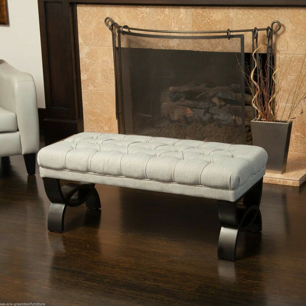 living room with bench living room furniture tufted fabric ottoman bench w 16658