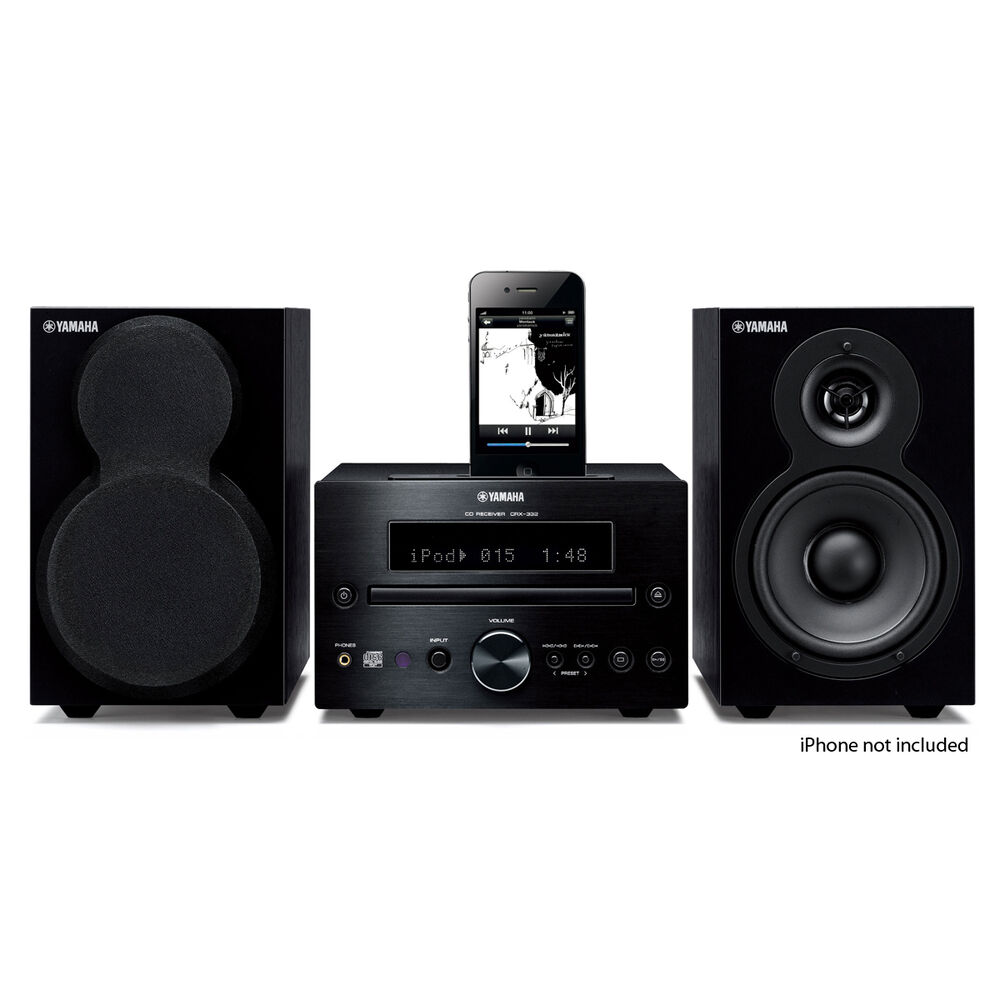 Yamaha Shelf Stereo System With Cd Usb Radio Amp Ipod Dock