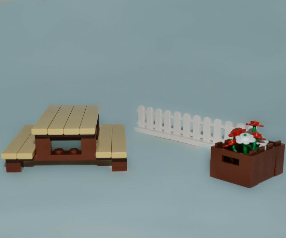 Lego Furniture Back Yard Picnic Table Collection Flower