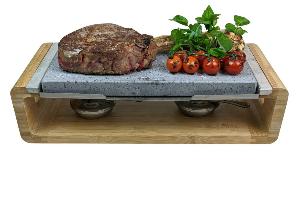 hot stone cooking steak stone grill lava rock cooking black rock grill ho 44 ebay. Black Bedroom Furniture Sets. Home Design Ideas