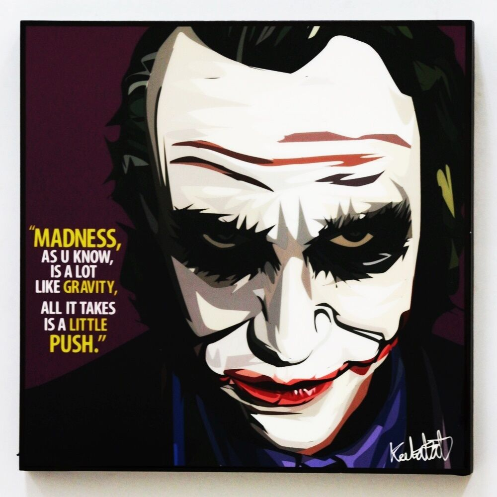 The Joker Batman Canvas Quotes Wall Decals Photo Painting