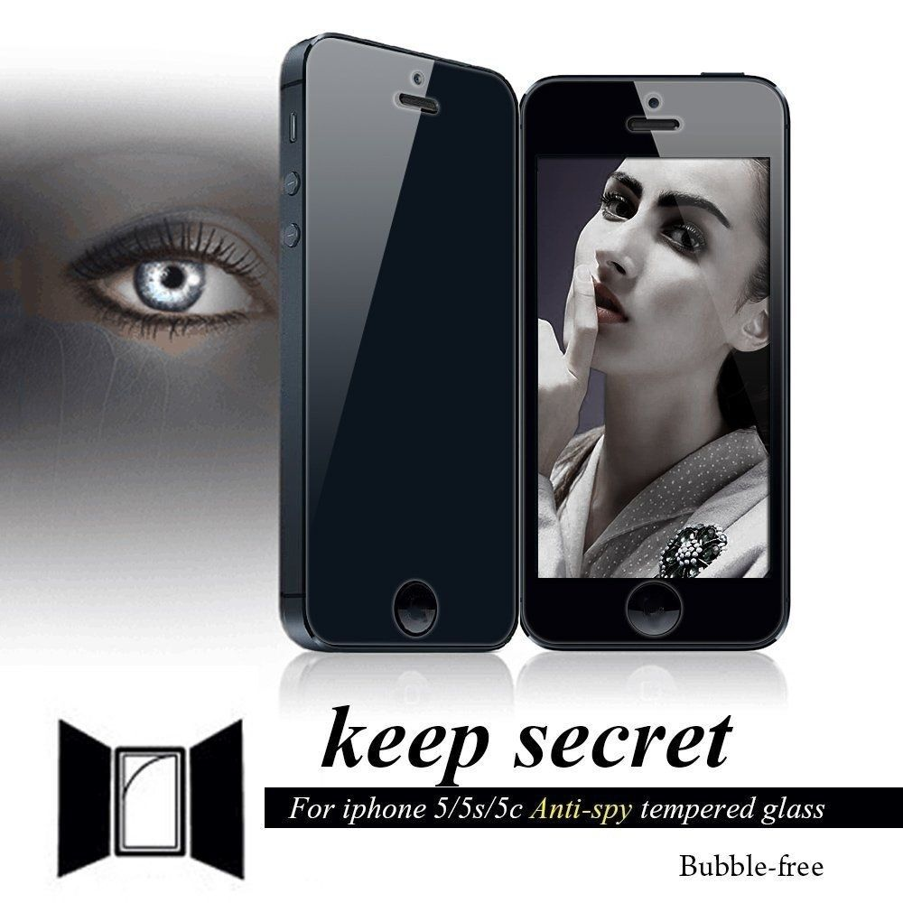 iphone 5s glass screen protector top black anti privacy tempered glass screen protector 3478