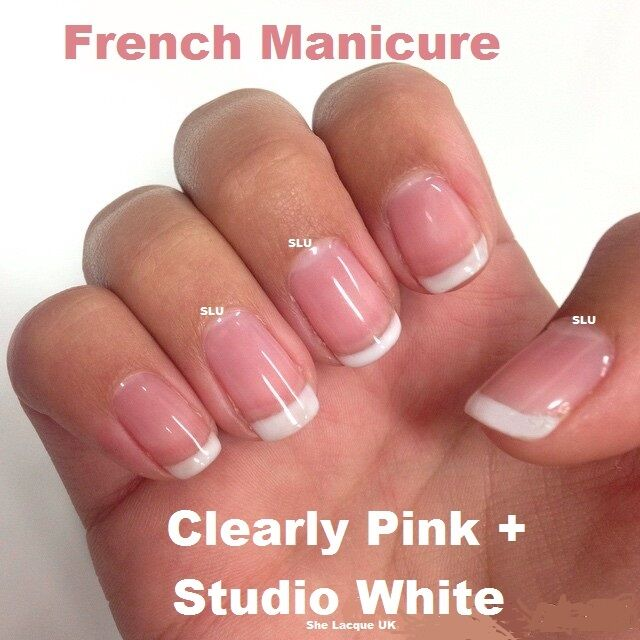 BLUESKY FRENCH MANICURE STUIDO WHITE CLEARLY PINK DUO TWIN PACK GEL NAIL POLISH