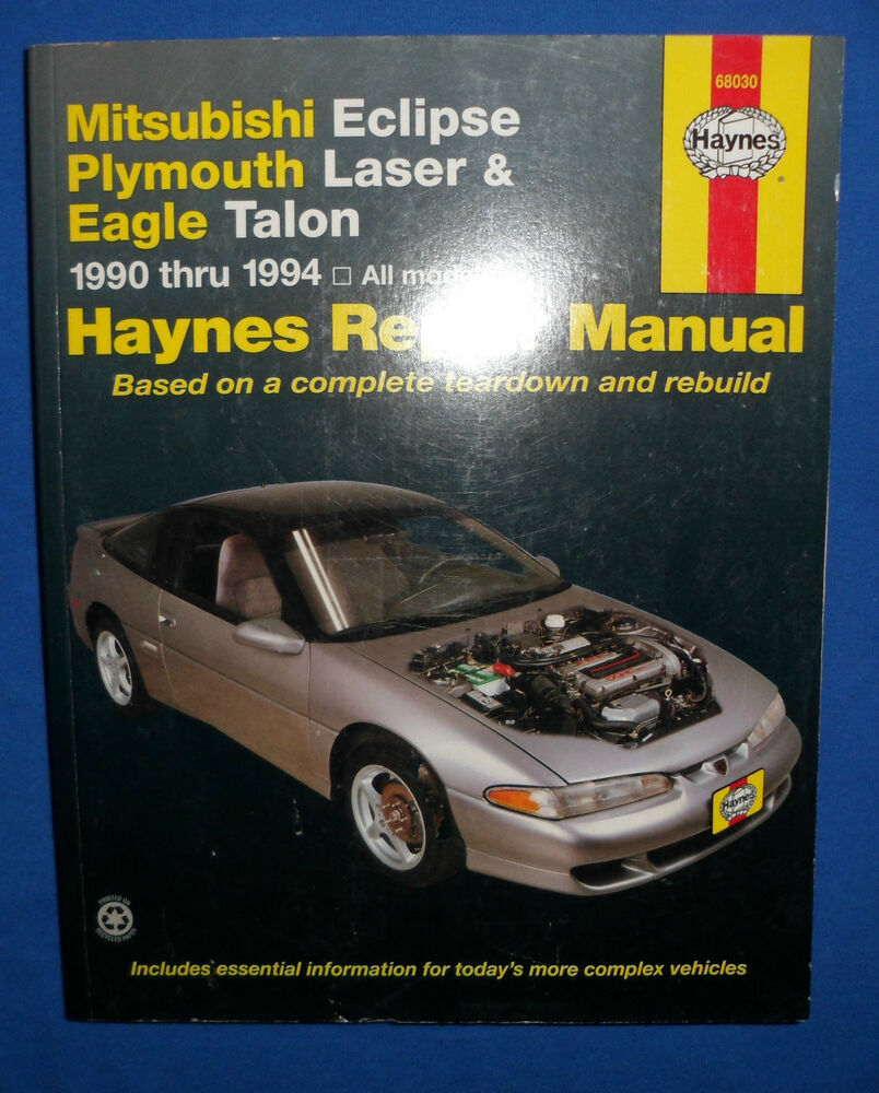 Haynes 68030 Repair Manual Mitsubishi Eclipse Plymouth Laser Eagle Talon  1990-94 | eBay
