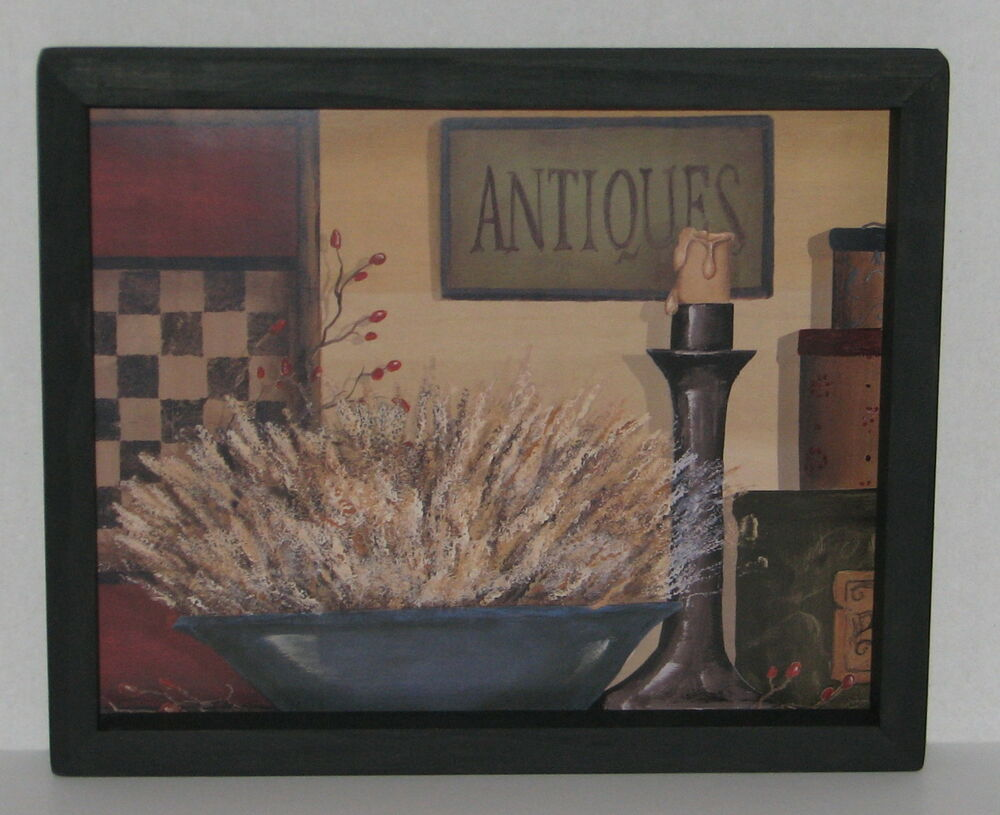 Primitive Country Antiques Candle Checkerboard 9 X 11