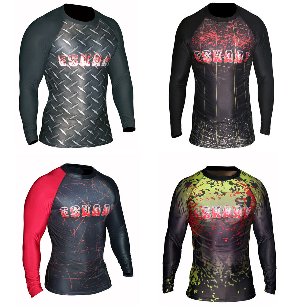 Mens Rash Guard Swim Shirt