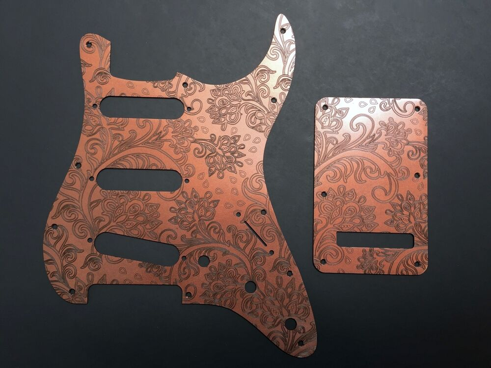 copper paisley floral custom bakelite pickguard fender stratocaster strat set ebay. Black Bedroom Furniture Sets. Home Design Ideas