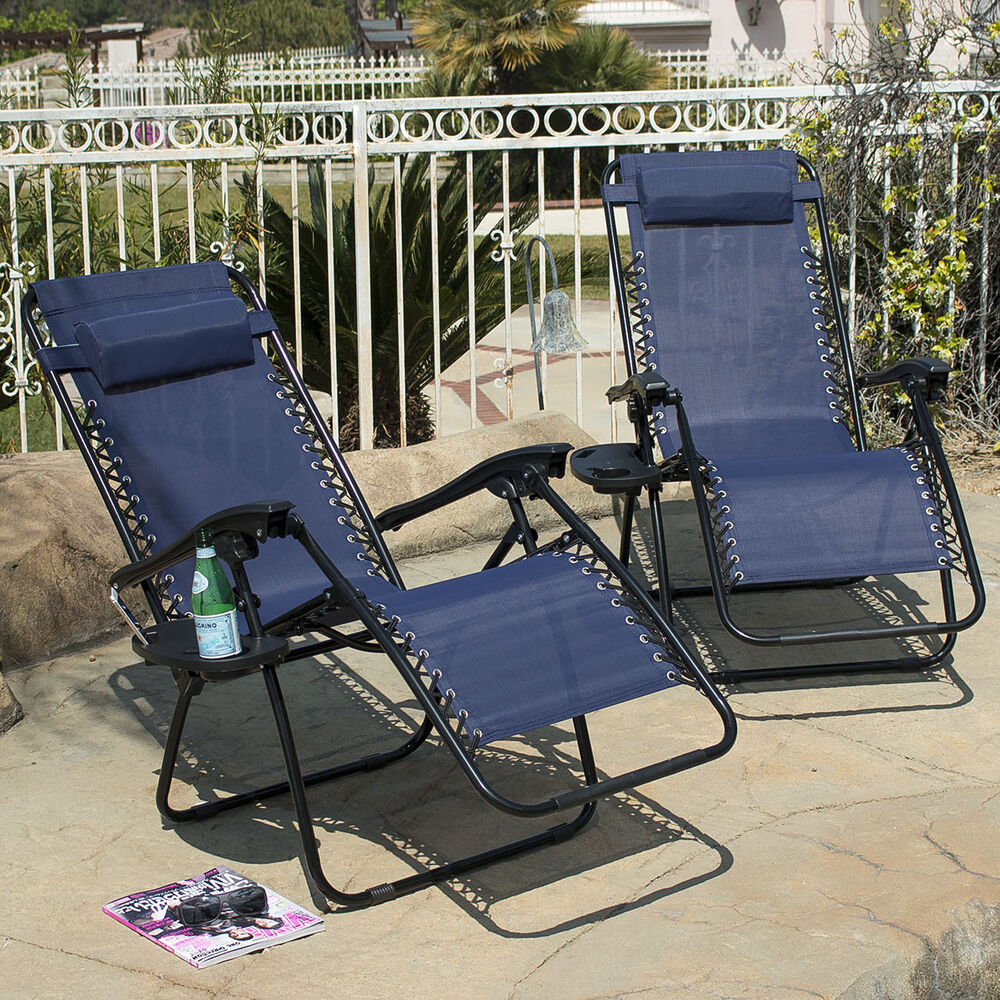 Zero Gravity Chairs Case 2 Blue Lounge Patio Chair
