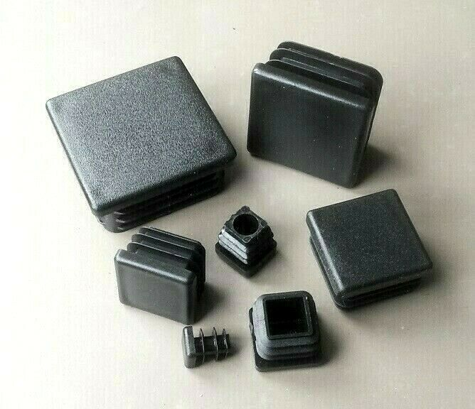Square Plastic End Caps Blanking Plugs Inserts Tube Box