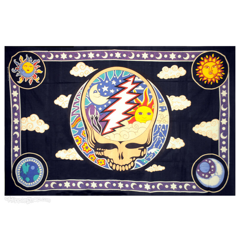 Grateful Dead Space Your Face Twin Tapestry Wall Hanging