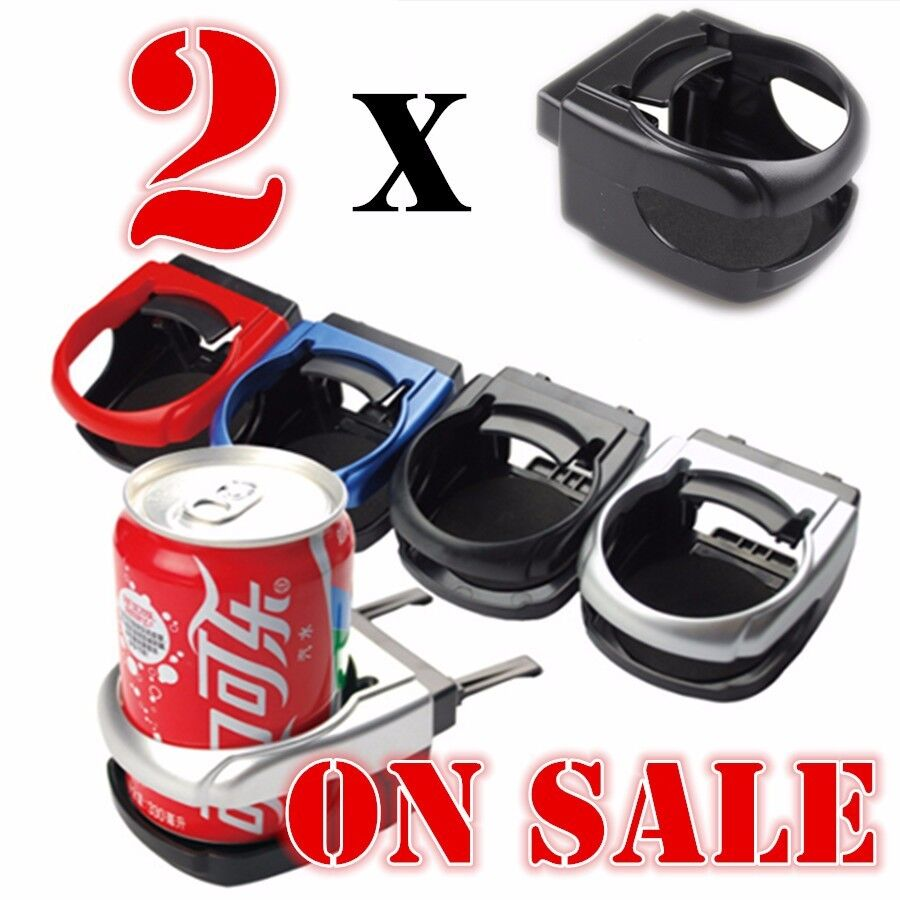 2 x black plastic clip on car auto drink holder car cup holder bottle can holder ebay. Black Bedroom Furniture Sets. Home Design Ideas