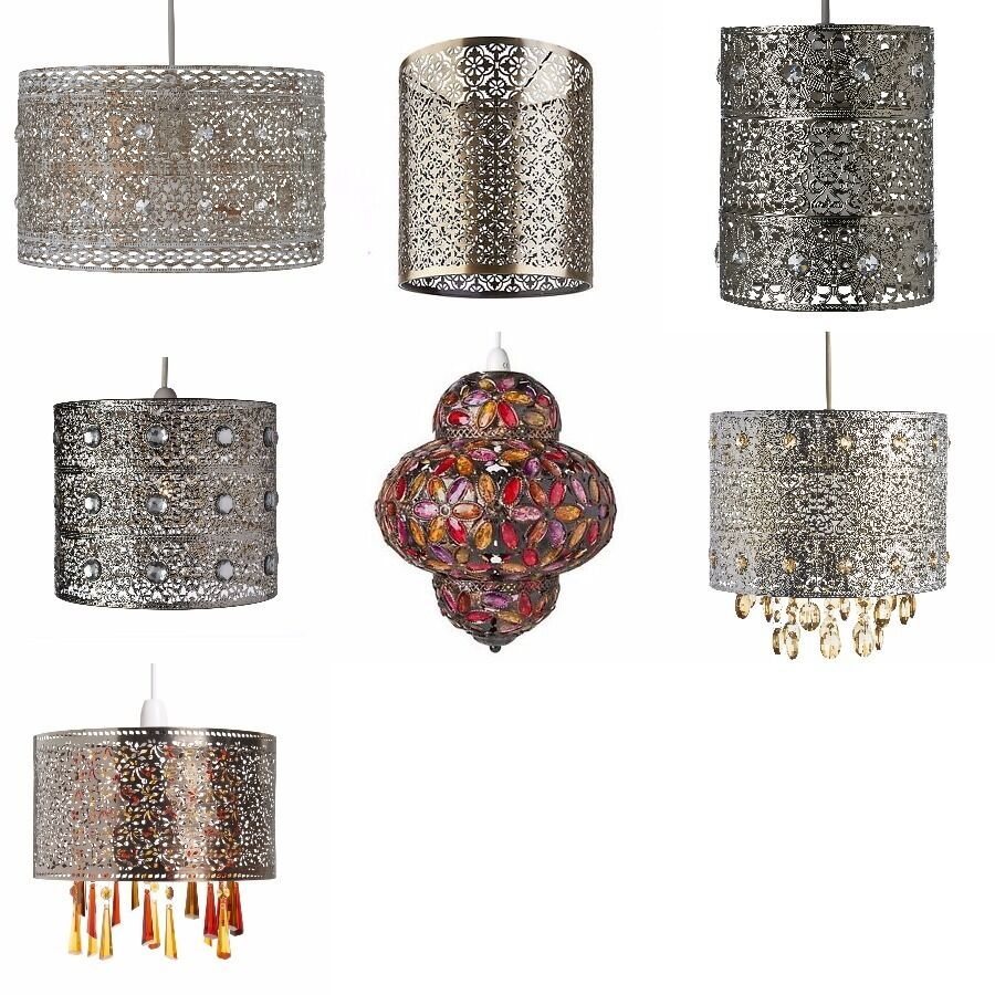 Easy Ceiling Lamp Shade: Shabby Chic Metal Moroccan Ceiling Light Shade Pendant New