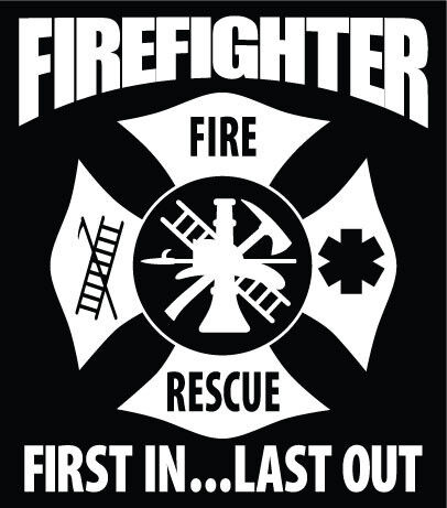 Firefighter Decal Maltese Cross Car Window Vinyl Sticker