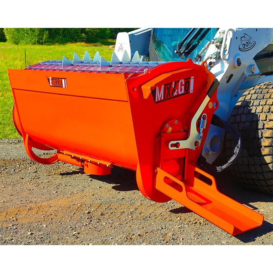 Skid Steer Attachment Cement Mixer For Bobcat Style