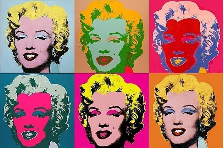 MODERN ART FRIDGE MAGNET - ANDY WARHOL MARILYN MONROE | eBay