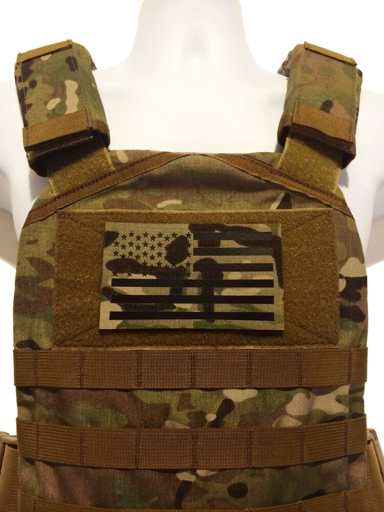 """LARGE 5x3"""" Infrared reflective Multicam IR US Flag Patch ..."""