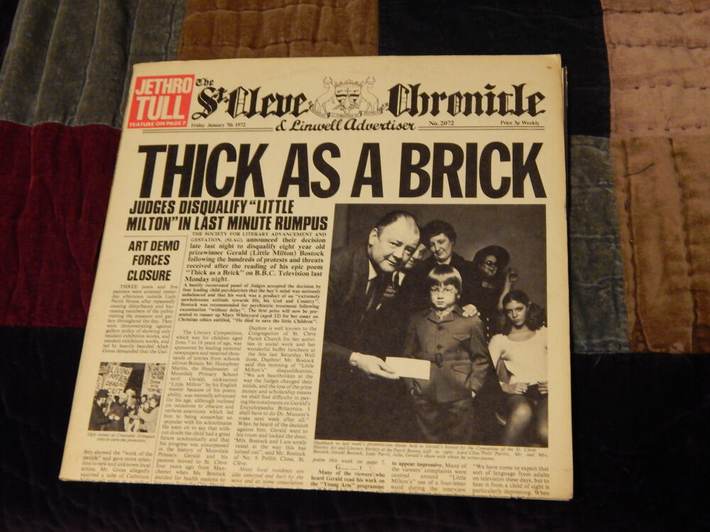 Jethro Tull Thick As A Brick Aqualung Steve Miller