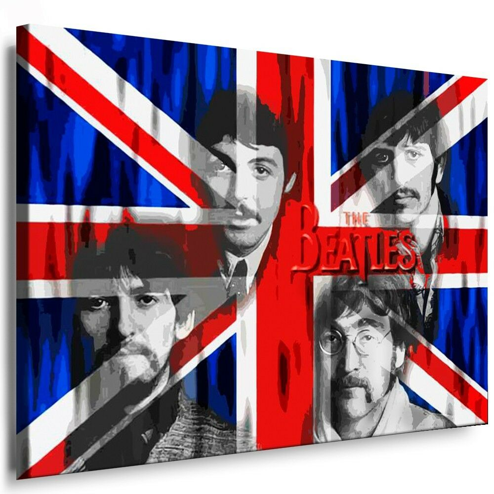 leinwandbilder org beatles bild auf leinwand druck bilder kunstdrucke poster ebay. Black Bedroom Furniture Sets. Home Design Ideas
