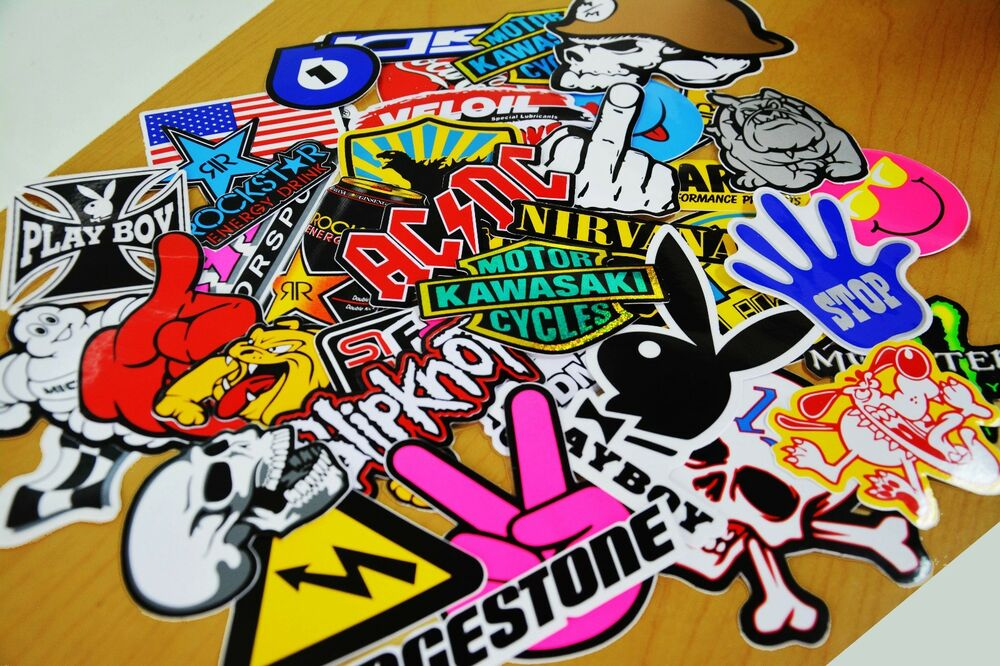 60 New Stickers Bomb Logo Motorcycle Car Skateboard Laptop
