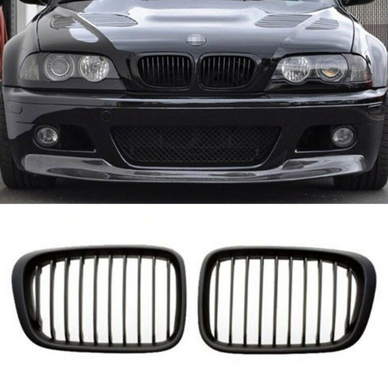 Bmw Grills: Black Front Grilles Grill For BMW E46 98-01 4D 3 Series