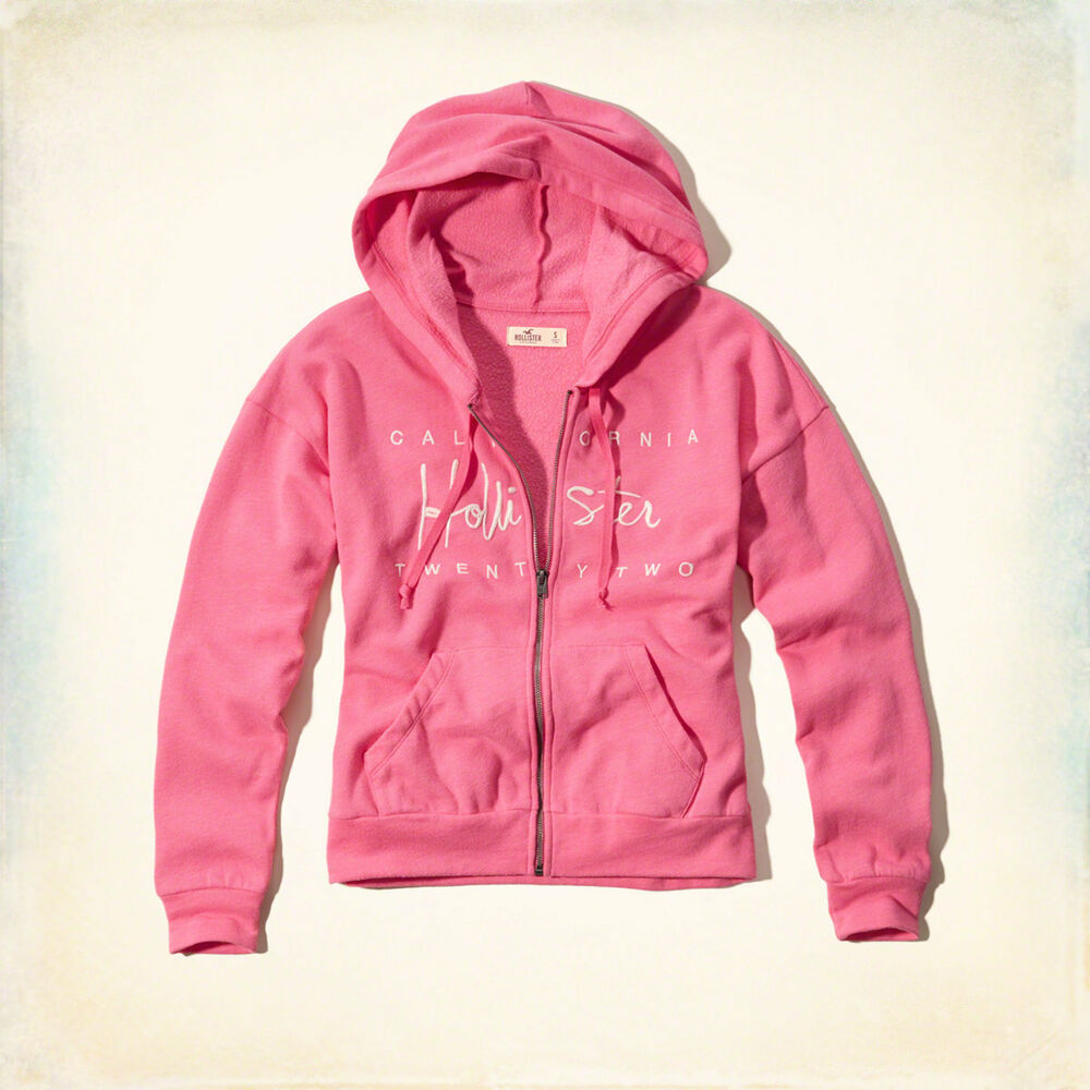 Hollister By Abercrombie Girls Logo Graphic Hoodie Size L ...
