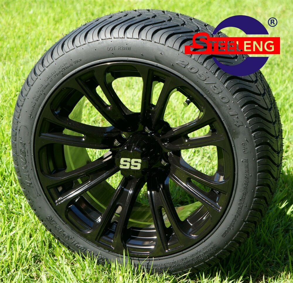 """18 Inch Rims And Tires >> GOLF CART 14"""" VOODOO WHEELS and 205/30-14 DOT LOW PROFILE TIRES (SET OF 4)   eBay"""