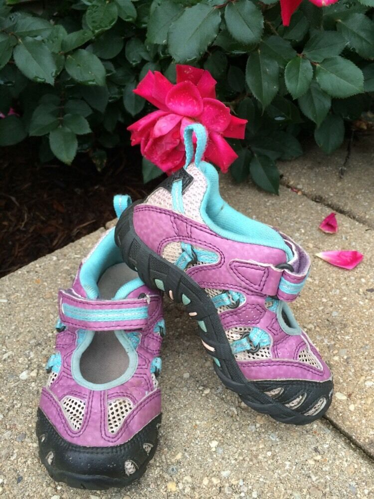 Girls Merrell Pink Velcro Shoes